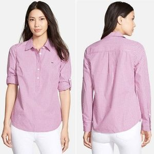 Vineyard Vines mini gingham popover top shirt